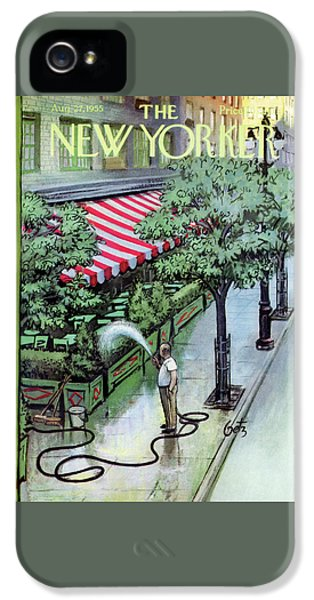 New Yorker August 27th, 1955 IPhone 5 Case