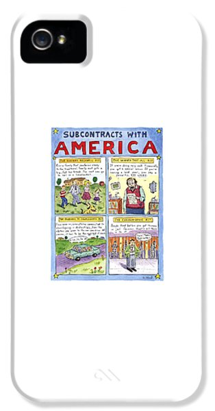 New Yorker January 16th, 1995 IPhone 5 Case by Roz Chast