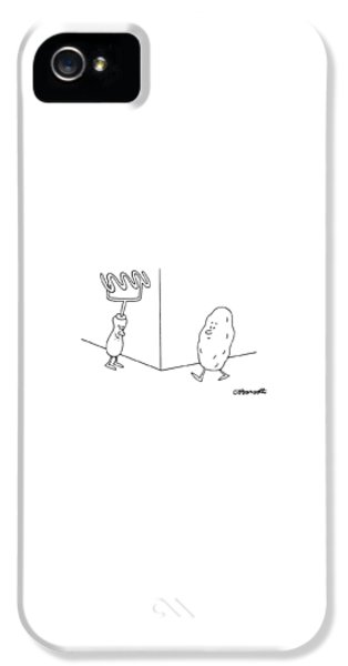 Potato iPhone 5 Case - New Yorker January 9th, 1995 by Charles Barsotti