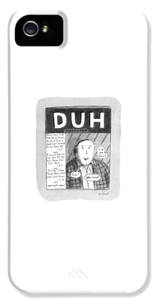 New Yorker November 18th, 1996 IPhone 5 Case by Roz Chast