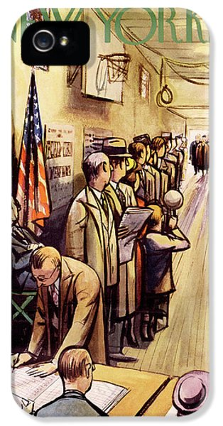 New Yorker November 4th, 1950 IPhone 5 Case by Arthur Getz