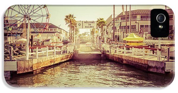 Newport Beach Balboa Island Ferry Dock Photo IPhone 5 Case by Paul Velgos
