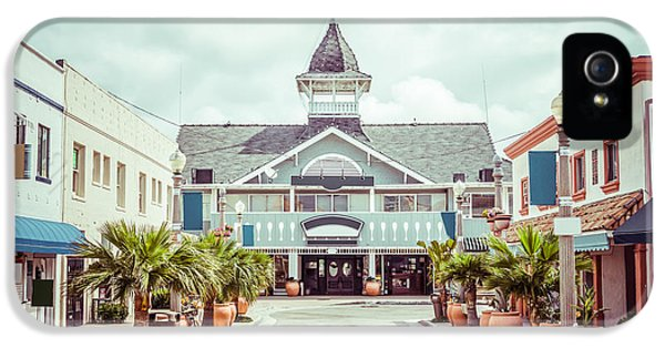 Newport Beach Balboa Main Street Vintage Picture IPhone 5 Case by Paul Velgos