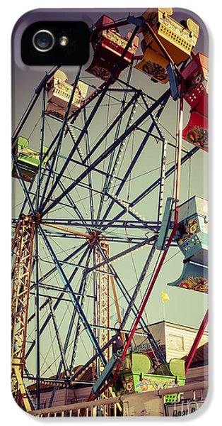 Newport Beach Ferris Wheel In Balboa Fun Zone Photo IPhone 5 Case by Paul Velgos