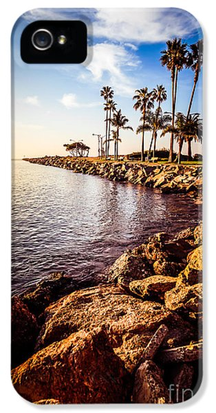 Newport Beach Jetty Picture At Jetty View Park IPhone 5 / 5s Case by Paul Velgos