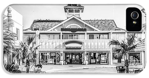 Newport Beach Panorama Of Balboa Main Street IPhone 5 Case by Paul Velgos