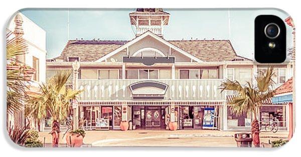 Newport Beach Panorama Photo Of Balboa Main Street IPhone 5 Case by Paul Velgos