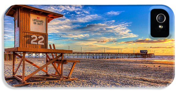 Newport Beach Pier - Wintertime  IPhone 5 Case by Jim Carrell