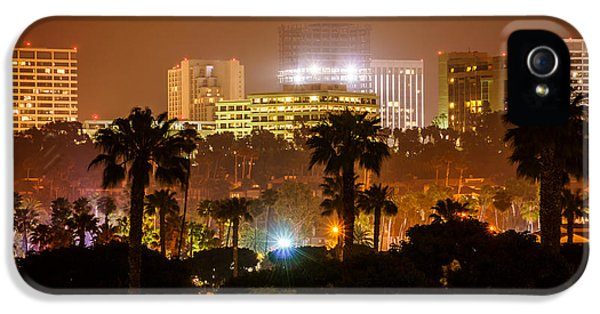 Newport Beach Skyline At Night IPhone 5 Case by Paul Velgos