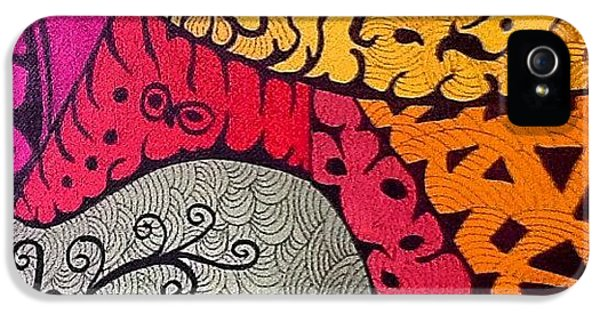 iPhone 5 Case - Nice Colors In A Doodling Designs I by Sandra Lira