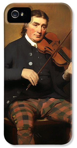 Violin iPhone 5 Case - Niel Gow - Violinist And Composer by Mountain Dreams