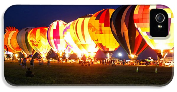 Night Glow Hot Air Balloons IPhone 5 Case