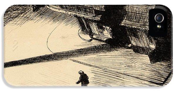 Night Shadows IPhone 5 Case by Edward Hopper