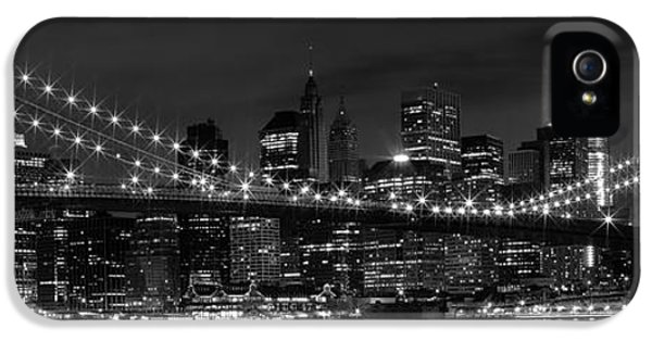 Night-skyline New York City Bw IPhone 5 / 5s Case by Melanie Viola