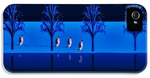Night Walk Of The Penguins IPhone 5 Case