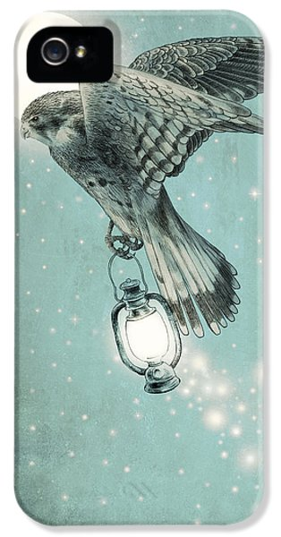 Hawk iPhone 5 Case - Nighthawk by Eric Fan