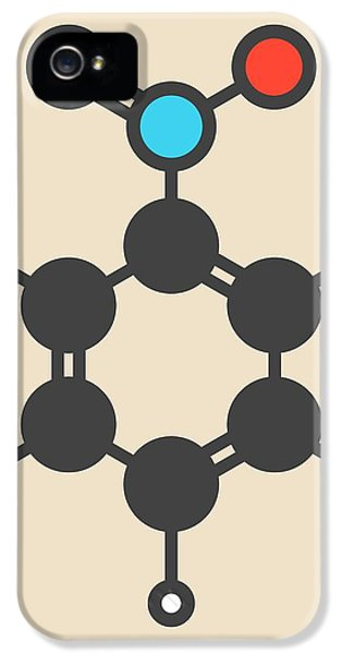 Toxicity iPhone 5 Case - Nitrobenzene Solvent Molecule by Molekuul/science Photo Library