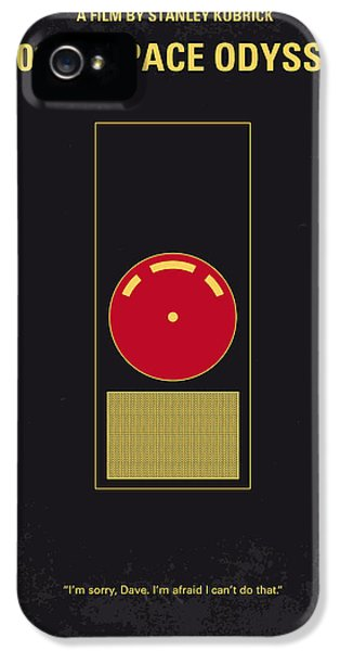 Hollywood iPhone 5 Case - No003 My 2001 A Space Odyssey 2000 Minimal Movie Poster by Chungkong Art