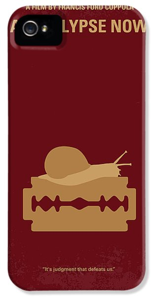 No006 My Apocalypse Now Minimal Movie Poster IPhone 5 Case by Chungkong Art
