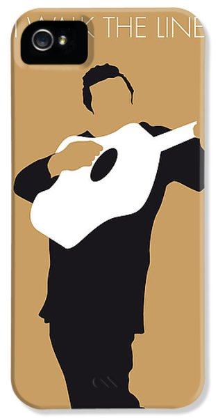 Johnny Cash iPhone 5 Case - No010 My Johnny Cash Minimal Music Poster by Chungkong Art