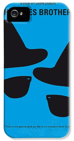 City Scenes iPhone 5 Case - No012 My Blues Brother Minimal Movie Poster by Chungkong Art