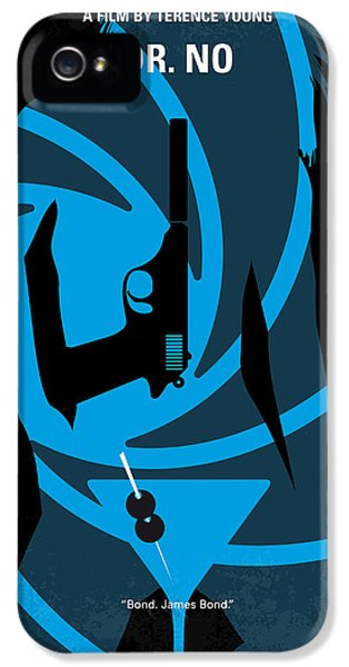 No024 My Dr No James Bond Minimal Movie Poster IPhone 5 Case by Chungkong Art