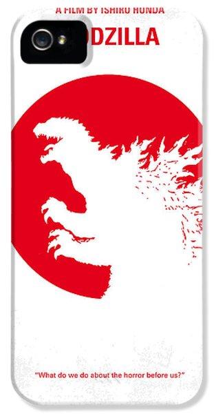 No029-2 My Godzilla 1954 Minimal Movie Poster.jpg IPhone 5 Case by Chungkong Art