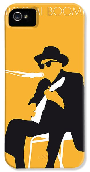No054 My Johnny Lee Hooker Minimal Music Poster IPhone 5 Case by Chungkong Art