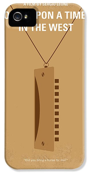 No059 My Once Upon A Time In The West Minimal Movie Poster IPhone 5 Case by Chungkong Art
