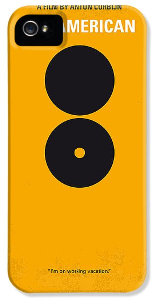 No088 My The American Minimal Movie Poster IPhone 5 Case by Chungkong Art