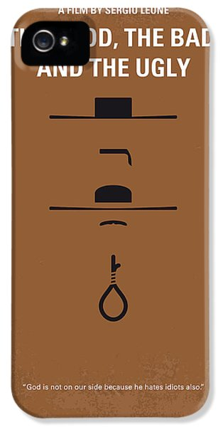 No090 My The Good The Bad The Ugly Minimal Movie Poster IPhone 5 Case by Chungkong Art