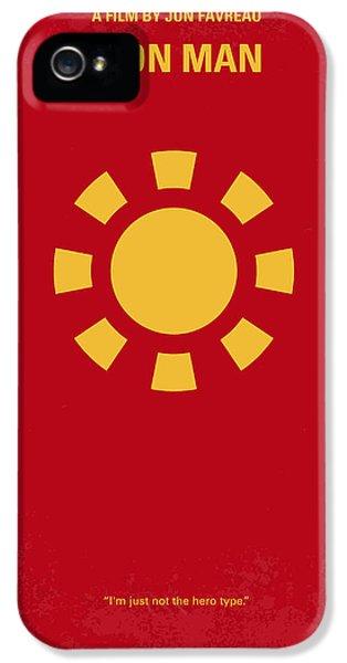 No113 My Iron Man Minimal Movie Poster IPhone 5 Case