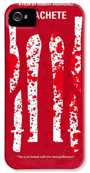 No114 My Machete Minimal Movie Poster IPhone 5 Case by Chungkong Art