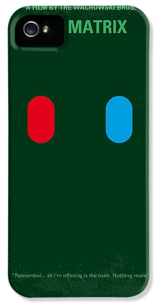 No117 My Matrix Minimal Movie Poster IPhone 5 Case by Chungkong Art
