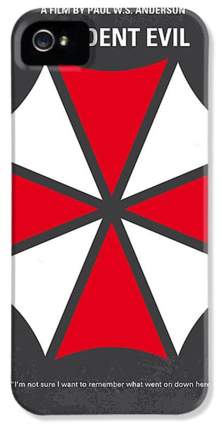 No119 My Resident Evil Minimal Movie Poster IPhone 5 Case by Chungkong Art