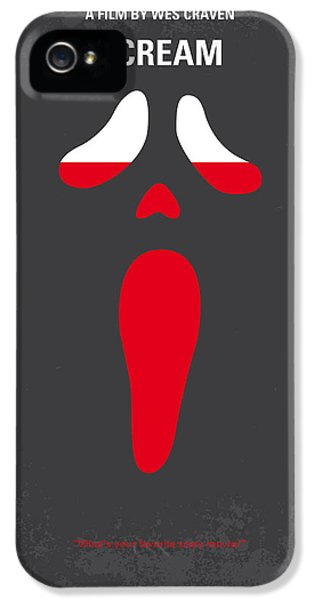 No121 My Scream Minimal Movie Poster IPhone 5 Case by Chungkong Art