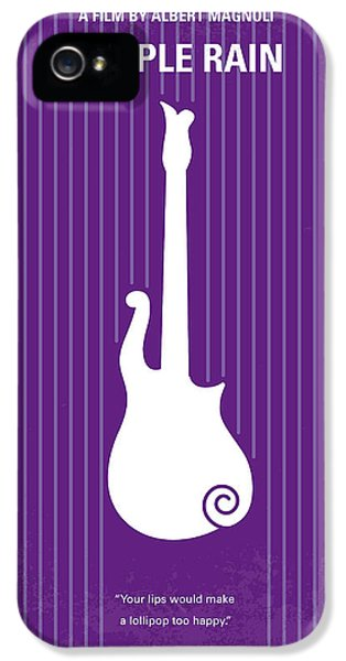 No124 My Purple Rain Minimal Movie Poster IPhone 5 Case