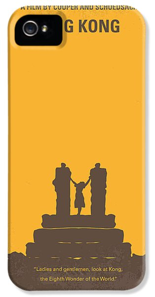 No133 My King Kong Minimal Movie Poster IPhone 5 Case