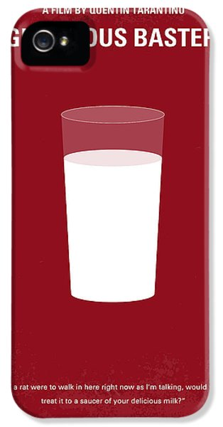 No138 My Inglourious Basterds Minimal Movie Poster IPhone 5 Case