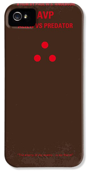 Aliens iPhone 5 Case - No148 My Avp Minimal Movie Poster by Chungkong Art