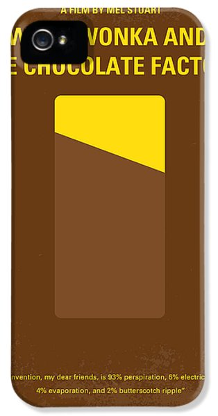 No149 My Willy Wonka And The Chocolate Factory Minimal Movie Poster IPhone 5 Case