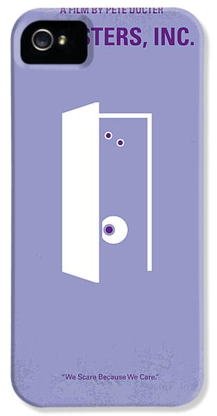No161 My Monster Inc Minimal Movie Poster IPhone 5 Case by Chungkong Art