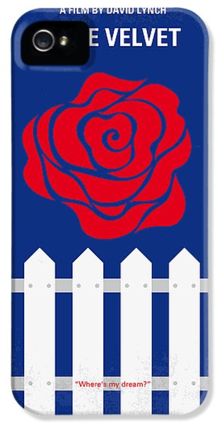 No170 My Blue Velvet Minimal Movie Poster IPhone 5 Case