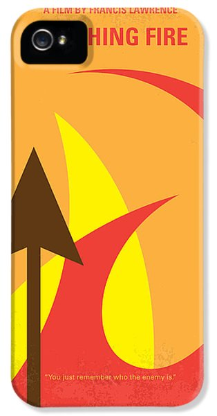 No175-2 My Catching Fire - The Hunger Games Minimal Movie Poster IPhone 5 Case
