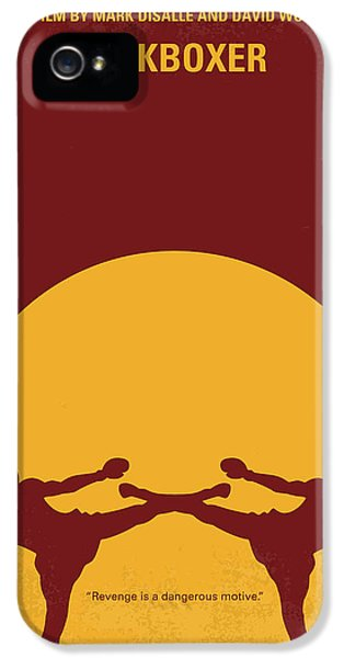 No178 My Kickboxer Minimal Movie Poster IPhone 5 Case by Chungkong Art
