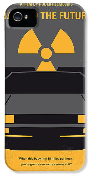 No183 My Back To The Future Minimal Movie Poster IPhone 5 Case by Chungkong Art