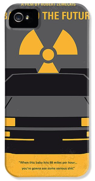 Time iPhone 5 Case - No183 My Back To The Future Minimal Movie Poster by Chungkong Art