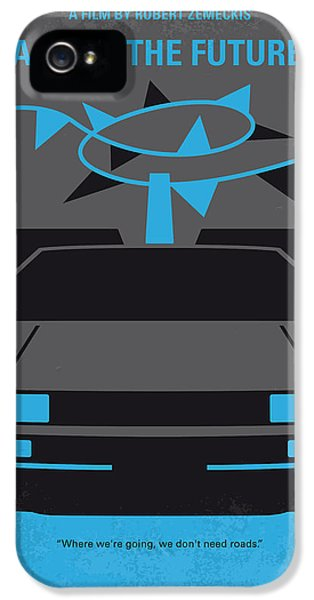 No183 My Back To The Future Minimal Movie Poster-part II IPhone 5 Case