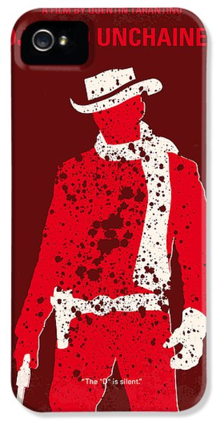 Hollywood iPhone 5 Case - No184 My Django Unchained Minimal Movie Poster by Chungkong Art