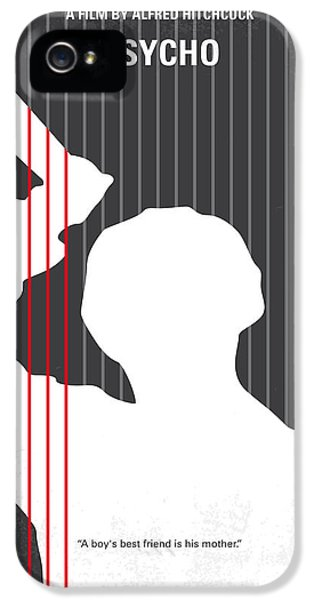 No185 My Psycho Minimal Movie Poster IPhone 5 Case